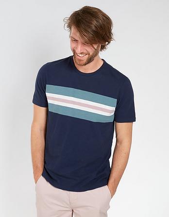 Lydney Chest Stripe T-Shirt