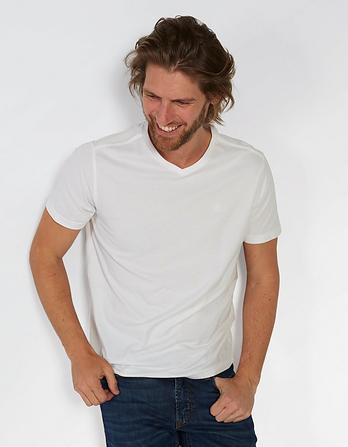 Hawnby Organic Cotton V Neck T-Shirt