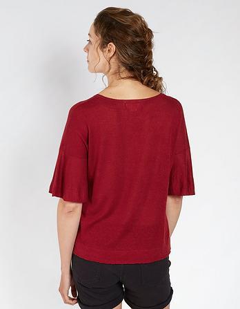 Rachel Knitted Ruffle Top
