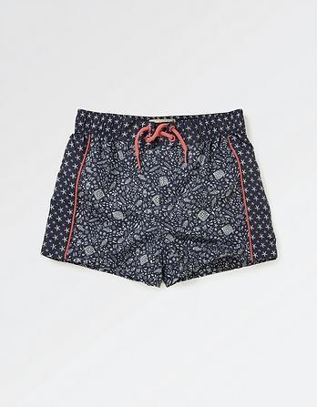 Floral Fish Board Shorts