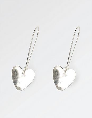 The Old Farmhouse Long Heart Earrings