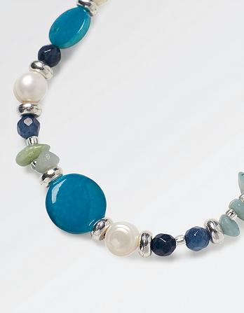 Mother Of Pearl And Chip Necklace