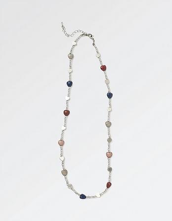 Multi Heart Short Necklace