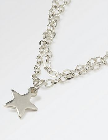 Two Row Star Short Necklace