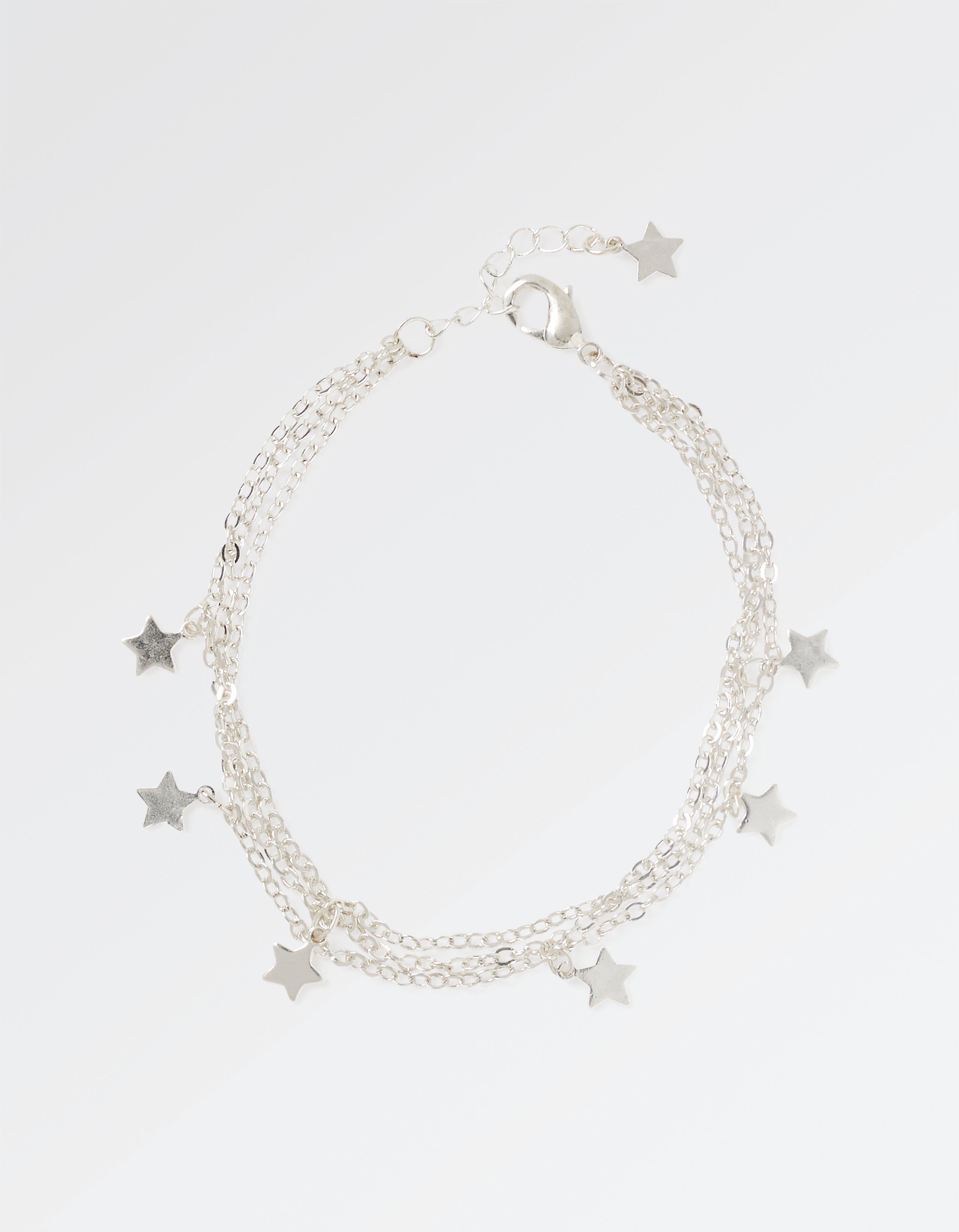 Three Strand Star Chain Bracelet
