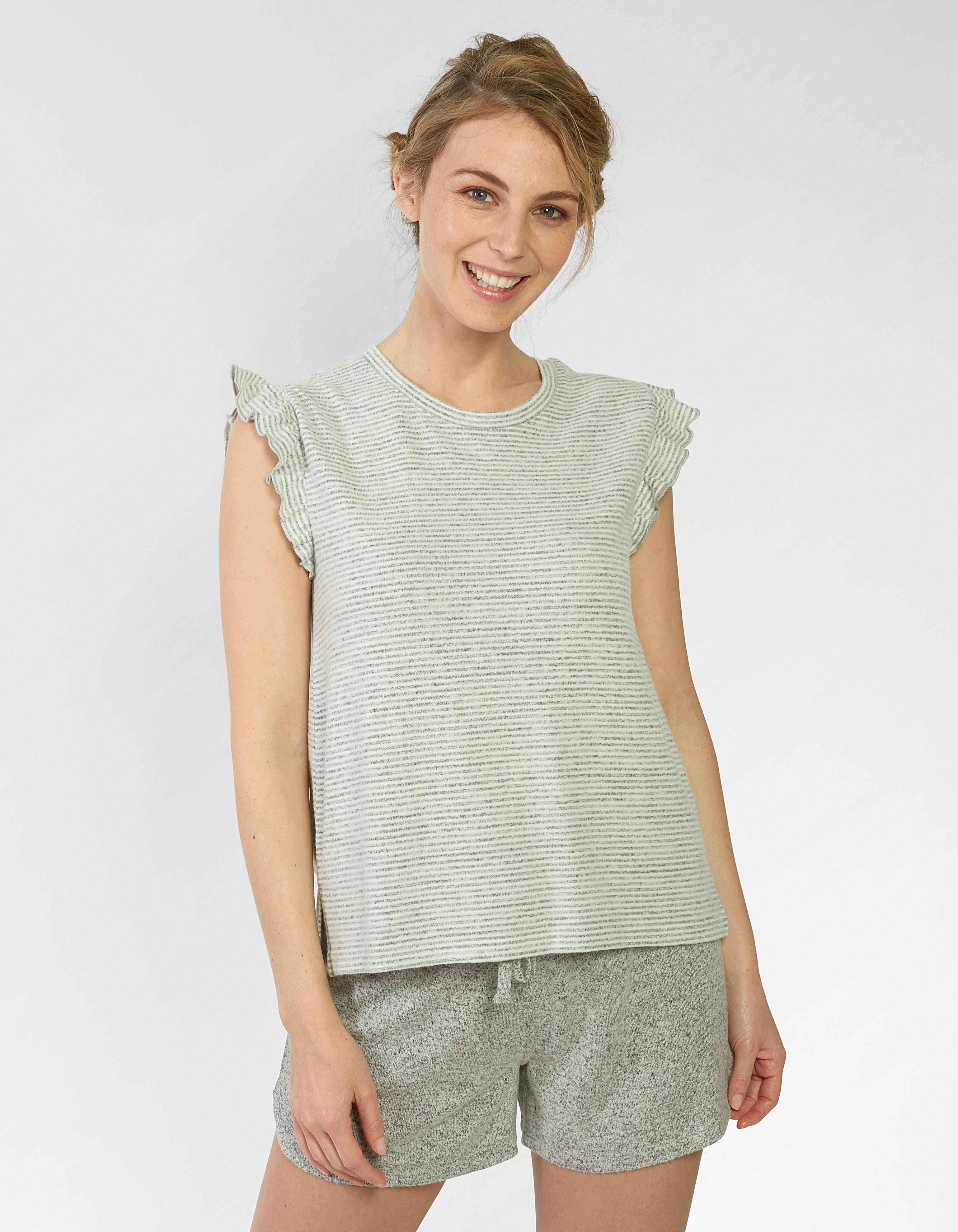 Frill Stripe T Shirt