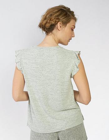 Frill Stripe T-Shirt