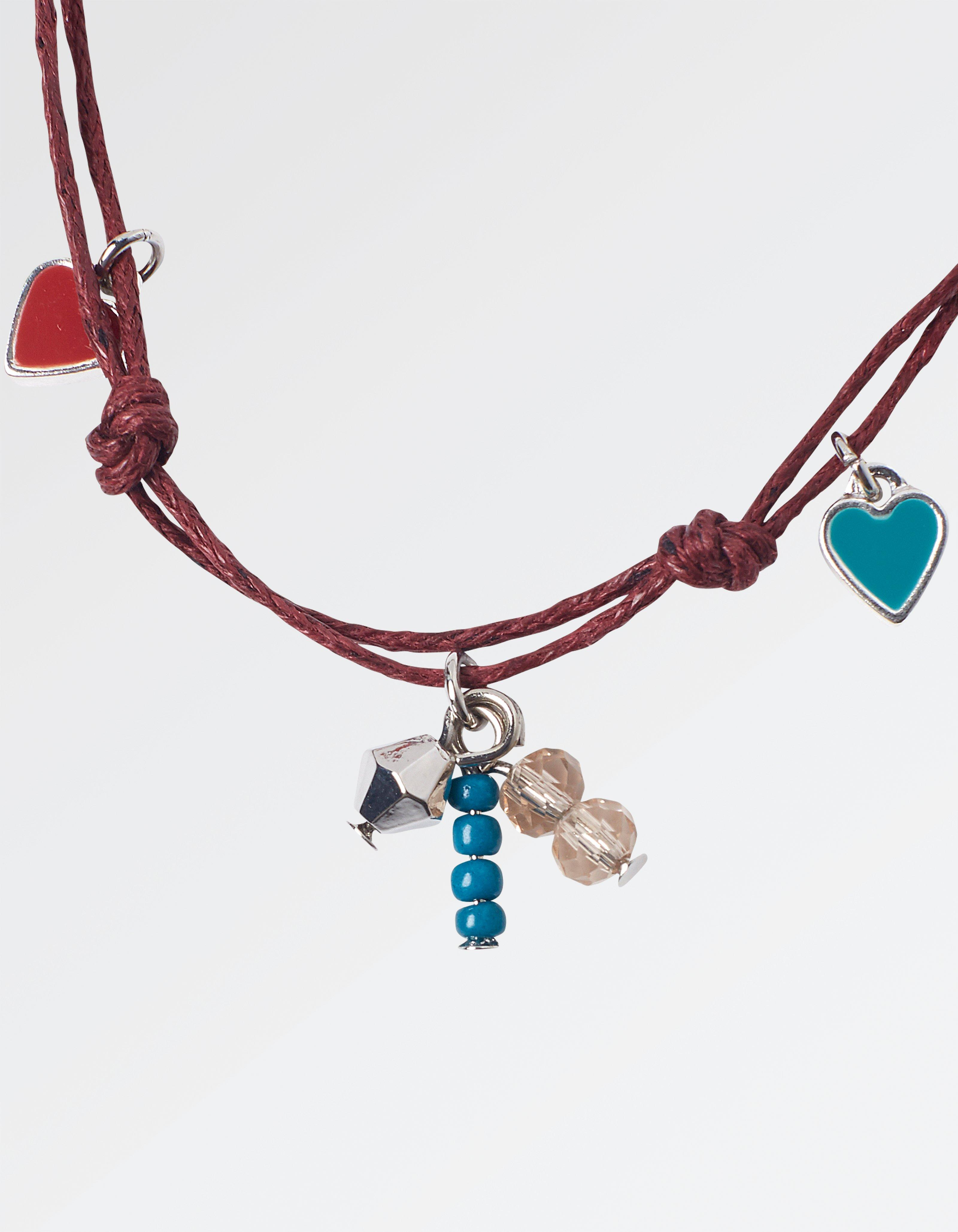 Heart Bead Long Cord Necklace