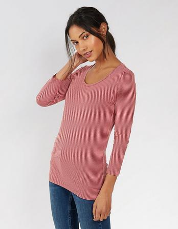Laura Stripe 3/4 Sleeve T-Shirt