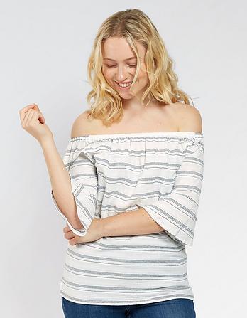 Louisa Stripe Bardot Top