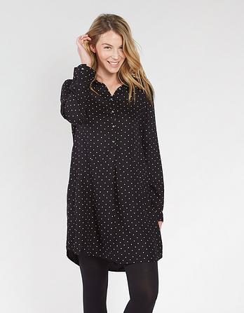 Amy Monodot Shirt Dress