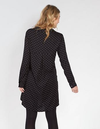 Amy Monodot Shirt Dress