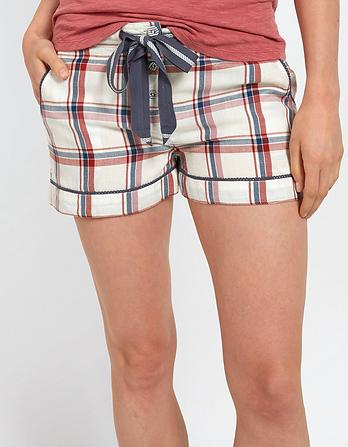 Multi Check Pajama Shorts