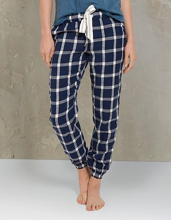Gingham Cuffed Lounge Pants