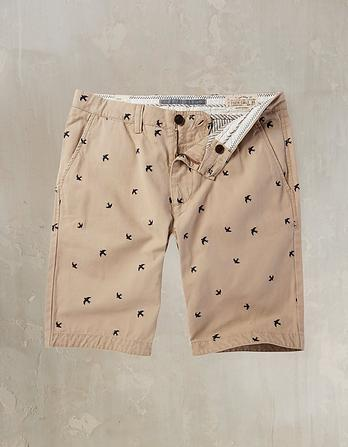 Cove Embroidered Bird Shorts