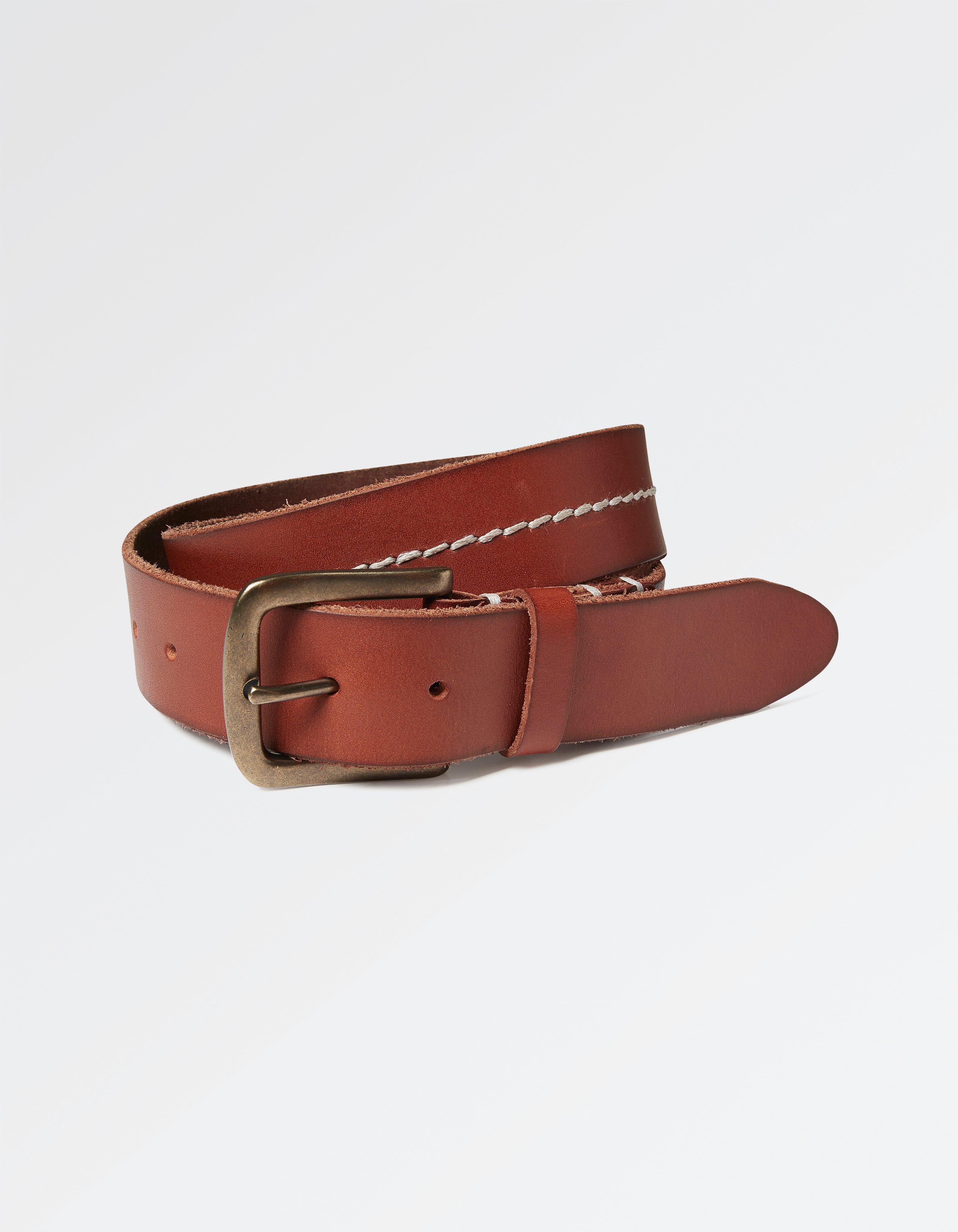 Stab Stitch Leather Belt