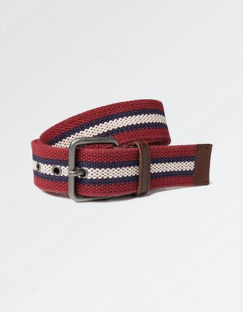 James Woven Stripe Belt