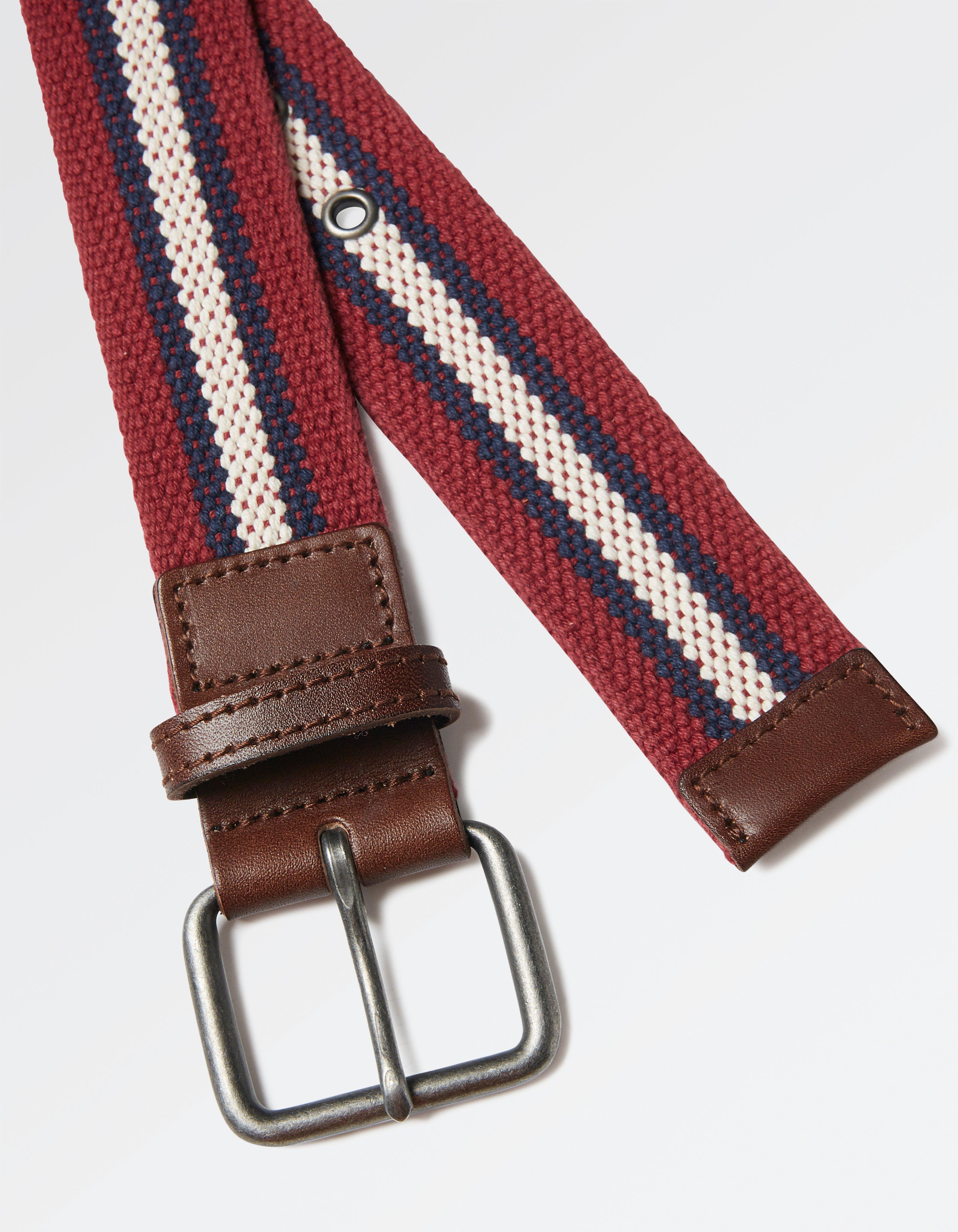 James Woven Stripe Belt