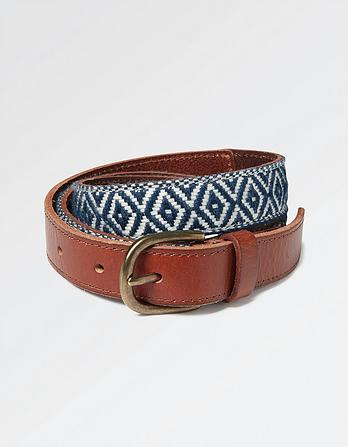 Aztec Woven Leather Belt