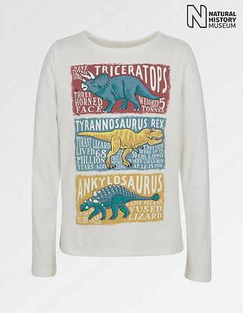 Natural History Museum Dinosaur Facts T-Shirt