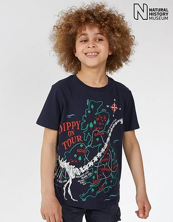 Natural History Museum Dippy On Tour T Shirt