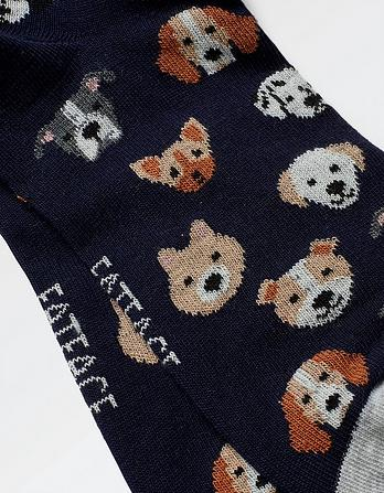 One Pack Dog Faces Socks