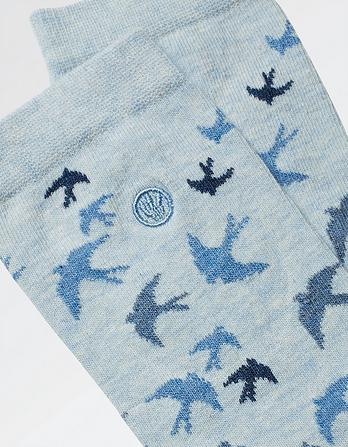 One Pack Flying Bird Socks