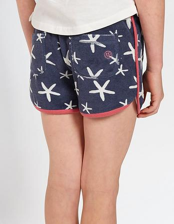Floral Fish Towel Shorts