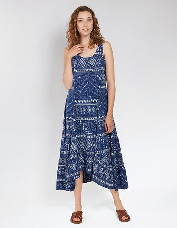Lula Tribal Batik Midi Dress