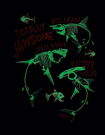 Shark Glow in the Dark Graphic T-Shirt