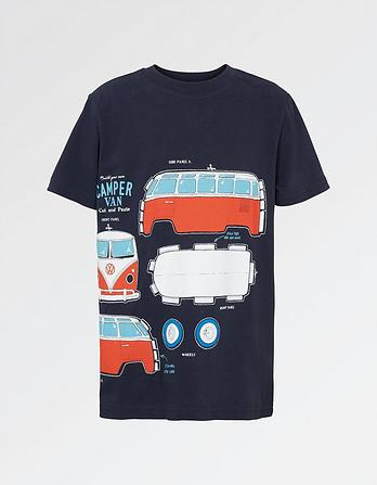 VW Ss Cut Out Camper Tee