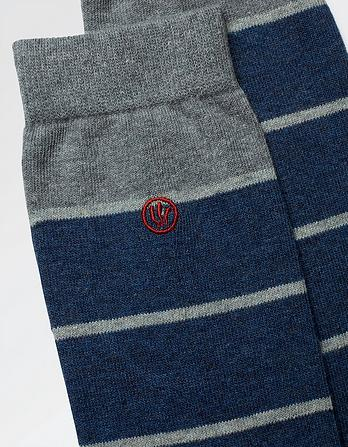 One Pack Declan Stripe Socks