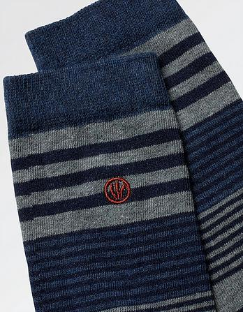 One Pack Francis Stripe Socks