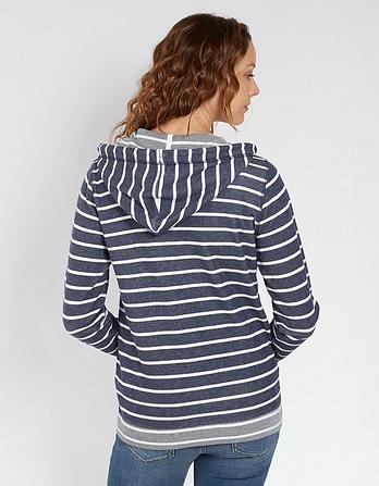 Newlyn Stripe Zip Thru Hoody