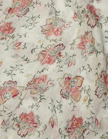 Vintage Stitch Floral Scarf