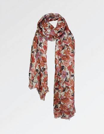 Meadow Floral Linen Scarf