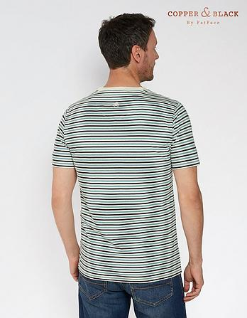 Cadogan Stripe Organic Cotton T-Shirt