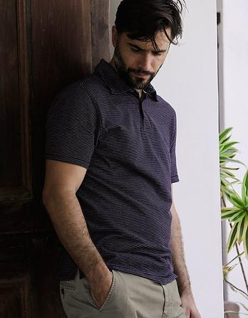 Hale Fine Stripe Polo