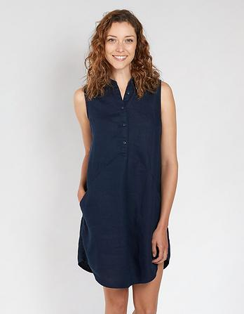 Molly Linen Shirt Dress