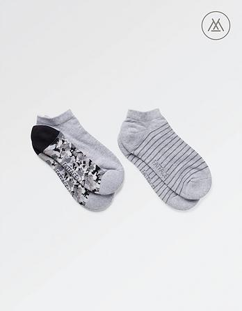 Athleisure Two Pack Trainer Socks