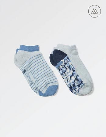 Two Pack Athleisure Sneaker Socks