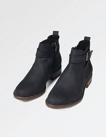 Newham Strappy Nubuck Chelsea Boots