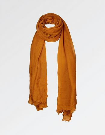 Jacquard and Weave Plain Scarf