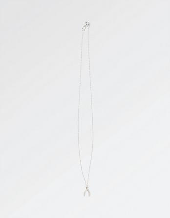 The Old Farmhouse Wishbone Short Necklace