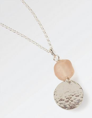 The Old Farmhouse Glass Bead and Disc Necklace