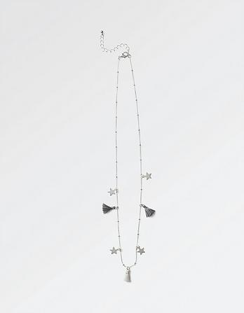 Star and Tassel Short Necklace