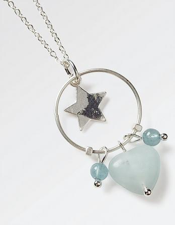 Star Heart Pendant Necklace