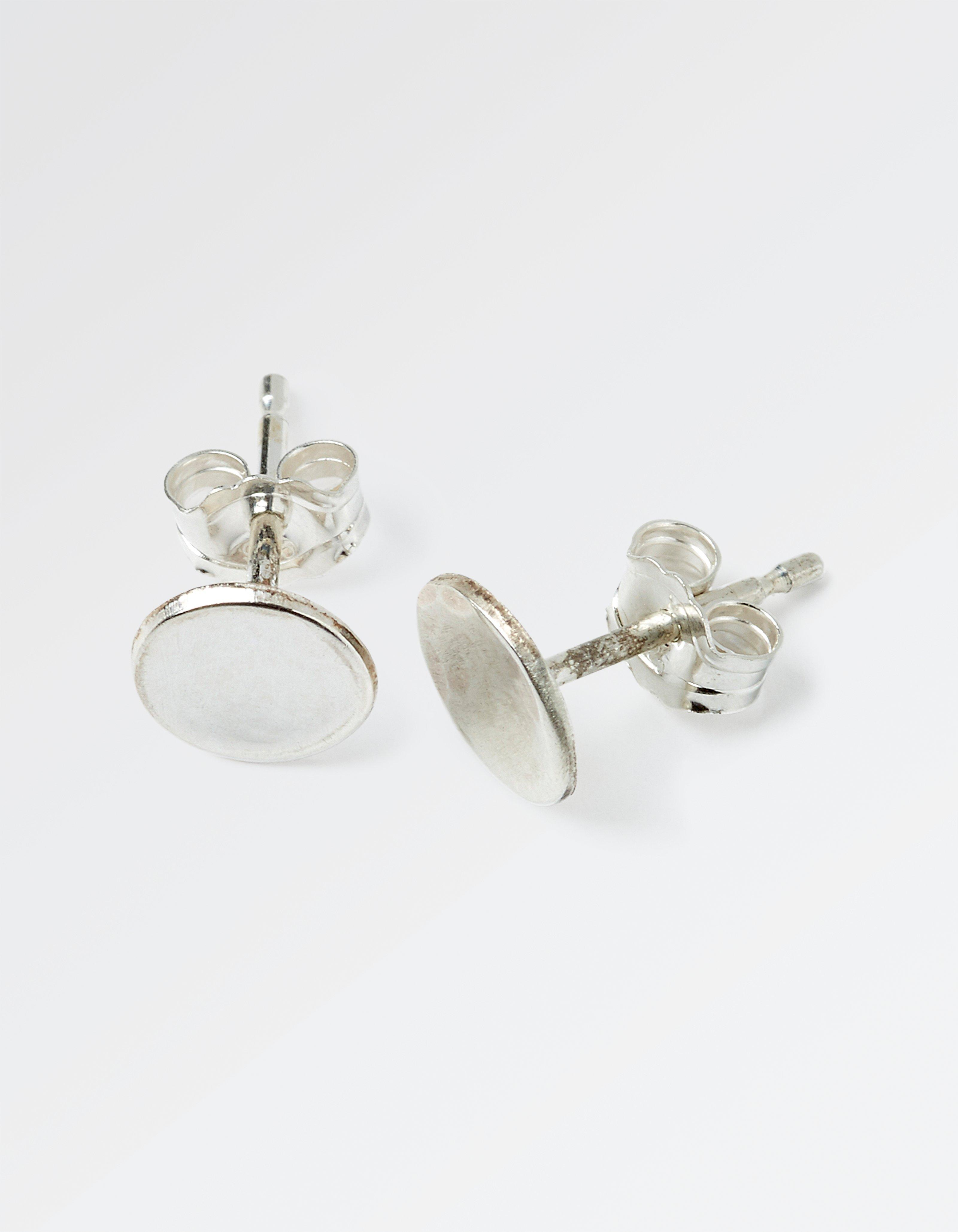 The Old Farmhouse Silver Disc Stud Earrings