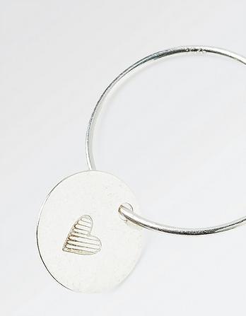 The Old Farmhouse Heart Disc Hoop Earrings