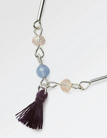 Two Strand Bead Tassel Necklace